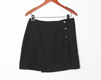 Vintage 90s Wrap Mini Skirt