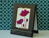 Modern Any Occasion Card, Classic Birthday, Sympathy Card, Female Birthday, Girlfriend Birthday, Poppies Card, Fuschia, Artistic Card