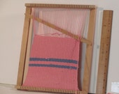 Small wooden tapestry loom used