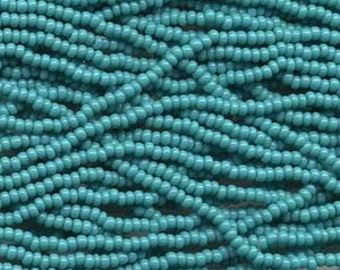 11/0 Seed Bead Turquoise-18 gram hank, #11 Green Turquoise Seed Beads, Turquoise Seed Bead, Seed Bead Weaving, Size 11 Seed Bead, Turquoise