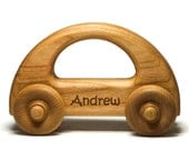 Wooden Toy Car, Wood Car, Toddler Toy Car, Personalized Gift Toy for Babies, Toddlers and Preschool