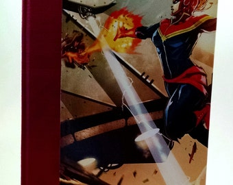 Handmade, One-of-a-Kind Captain Marvel Blank Journal - M055