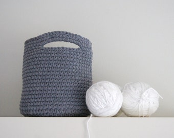 Large Crochet Basket. Crochet basket. Round basket. Storage basket. Cesta ganchillo grande. Cesto uncinetto. Häkeln Korb. Panier crochet.