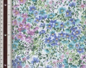 """Calico Pastel Flowers - 32-1/2""""With Small Piece Missing - 100% Cotton Fabric"""
