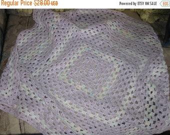 Summer Sale Girls Crocheted Baby Blanket