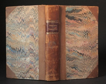 Antique book, 1825, Terence, Publius Terentius Afer, Latin book, Roman comedy
