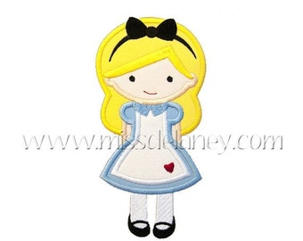 ON SALE Alice Applique Design