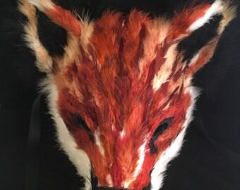 Fox - Feathered Specialty Custom Animal Masks