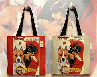 American Staffordshire Terrier Art Tote Bag Notorious Movie Poster   Perfect DOG LOVER Gift for Her Gift for Him