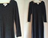 Minimalist dark gray sweater dress size medium