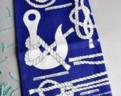 Knots Hitches & Bends - Ulster Irish Linen Tea Towel - NOS