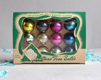 SALE 20% OFF! Feather Tree Dozen Mercury Shiny Brite with Original Boxes - Set of 2