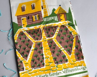 Emily - Williamsburg Kitchen & Herb Garden - Leacock Linen Tea Towel - Tags