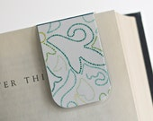 Magnetic Bookmark Laminated Dot Design Green Teal Ready To Ship Gift Idea