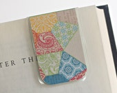Magnetic Bookmark Laminated Quilt Pattern Colorful Family Heirloom Sewing Crafting Quilting