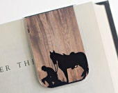 Bookmark Magnetic Laminated Cowboy Horse Western Country Barn Wood Cowgirl Praying Prayer Bible Church Nature Ready To Ship