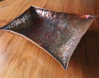 Curvy 4 Sided Copper Bowl