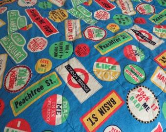 Vintage Sleeping Bag London Sleeping Bag Sock It To Me Groovy Decor 1960s Decor Basin Street Peachtree Street Groovy Baby