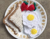 Crochet Breakfast Food Set-Vegetarian Option