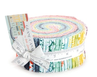 Grand Canal cotton jelly roll by Kate Spain for Moda fabric