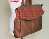 CHRISTMAS in July 30% + Mysterious Gift - Hugo Backpack (Water Resistant) in Cinnamon Laptop/ Shoulder bag / Handbag / Purse / Gift for her
