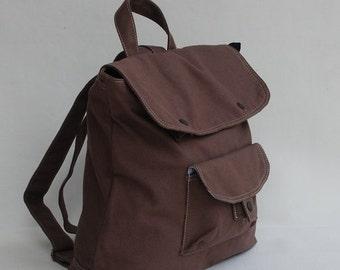 Halloween SALE - 30% BAGGO Unisex Backpack in Cinnamon Laptop / Shoulder Bag / Satchel / Rucksack / Messenger Bag /Diaper Bag/ School Bag/ W