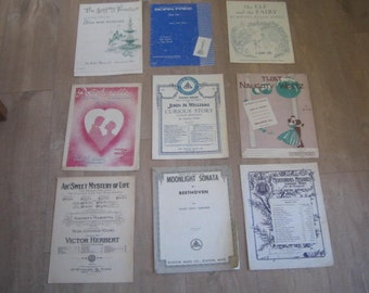 Vintage sheet music for the piano (9)