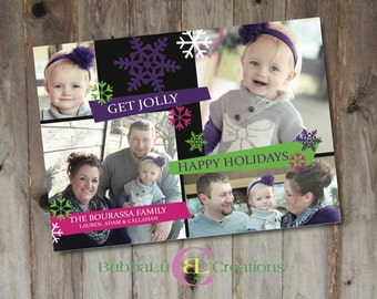Family Holiday Card - Get Jolly