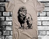 Mens Lion Professor T-Shirt - American Apparel Tshirt - S M L Xl and Xxl (15 Color Options)