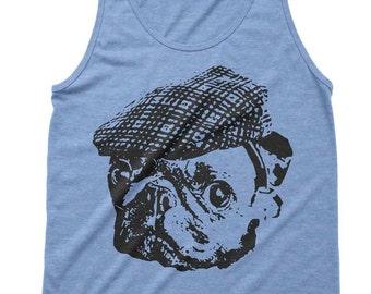 Sale Pug Hooligan Tri-Blend Tank Fitness Gym Workout Tanks Tanktop Tee Funny Gift Pug Life Pugs Love Pug Gift Idea Present Dad Brother - L