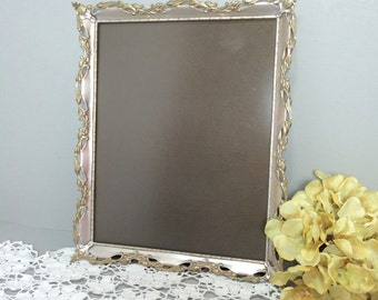 Ornate Gold and Silver Picture Frame 8 x 10, Non-Glare Glass Frame - Wall Hanging or Table Top