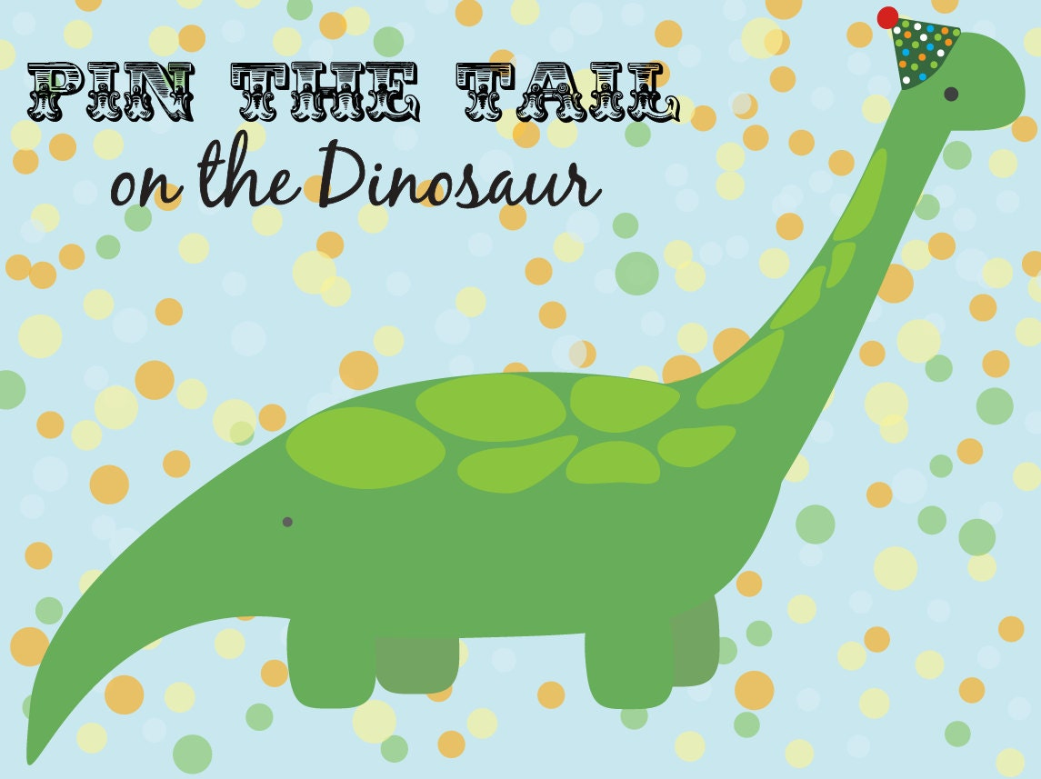 Pin the tail on the dinosaur template image collections for Pin the tail on the dinosaur template