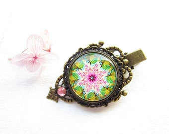 Haarclip,hairclip,Haar-Accessoire,Hair Accessories, Shabby Chic, woodland wedding,mandala hairclip,mandala haarspange,gift for her,romantic