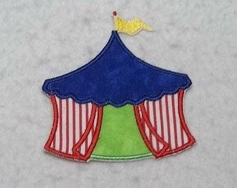Circus Tent (small) Tutu & Shirt Supplies - fabric iron on Applique Patch 7219