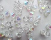 Clear AB Bicone Crystals/Destash/50 Bicone Crystals/12mm