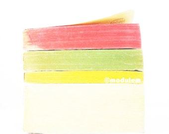 Modern Art Print - Lime Lemon Raspberry - vintage books photo, book poster, red, yellow, jade green, beige, kitchen wall art, 8x8, 8x10
