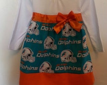 Miami Dolphins inspired boutique style dress