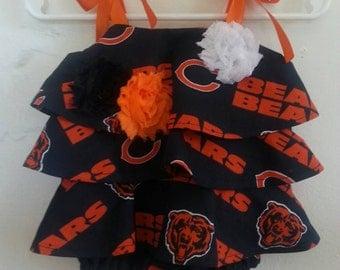 Chicago Bears inspired baby girl romper