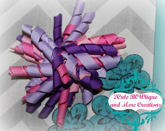 BoWdaCiOuS {Pink and Purple} Korker Hairbow