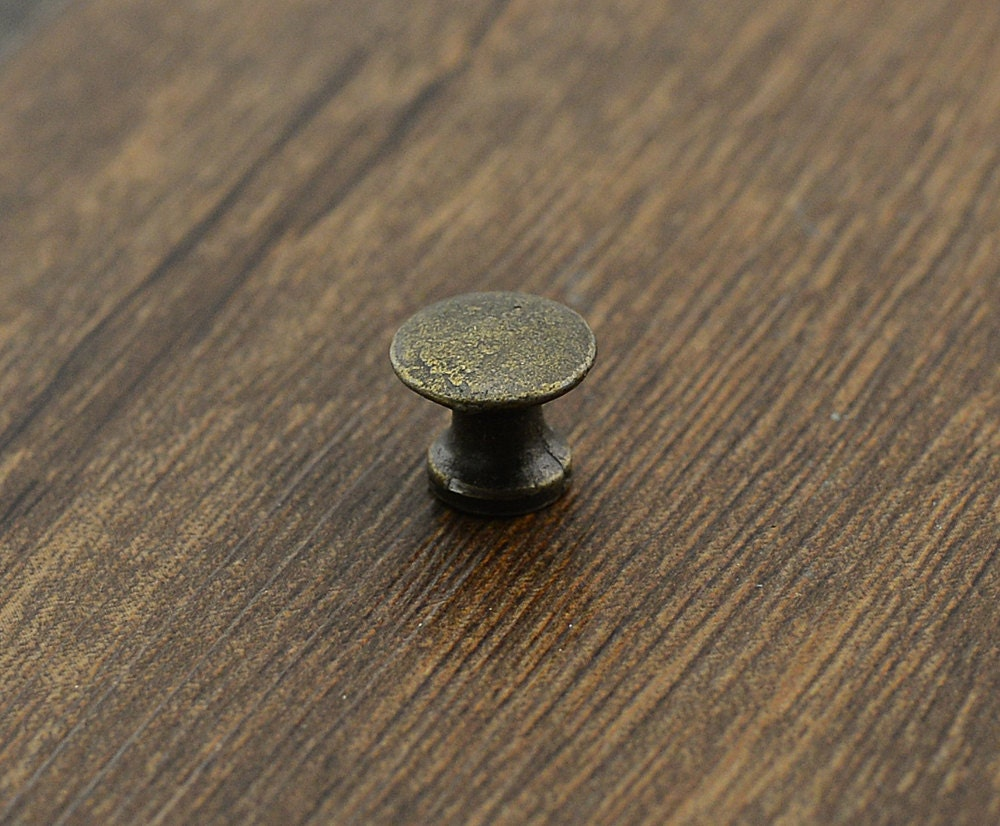 Antique bronze mini door knob pull knob pulls handles for Small cabinet pulls
