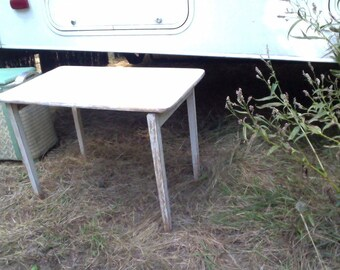 Painted Wood Folding Sewing Table Vintage