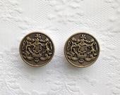 "Brass Crest Honor Vintage Style Design Plugs Gauges Size: 1"" (26mm)"