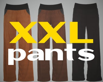 Plus size pants, XXL pants, womens plus size fashion - made to order