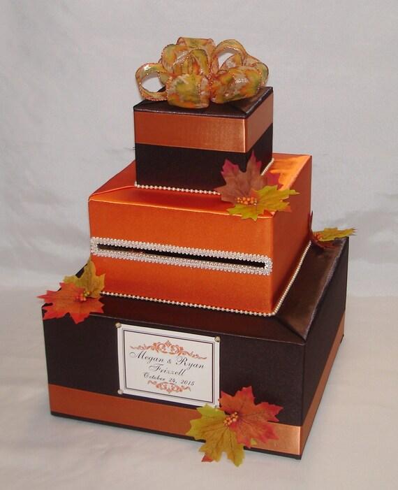 Fall Wedding Card Box Ideas: Fall/Autumn Theme Wedding Card Box-Fal By ExoticWeddingBoxes