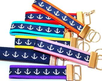 Anchor Key Fob Nautical Key Chain Anchor Car Keys Navy Key Fob Nautical Key Holder Beach Key Chain Preppy Key Chain New Driver Gift