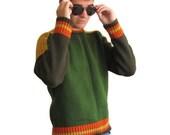 90s Men's Sweatshirt -Sweatshirt-Vintage sweater-Colorful-
