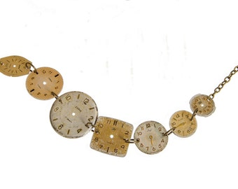 Vintage Watch Face Necklace Plain
