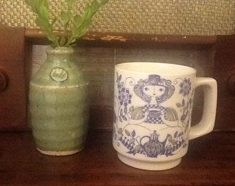 Vintage Turi Lotte (Figgjo) Coffe Mug Made in Norway 1960s