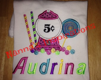 Custom Candyland birthday shirt
