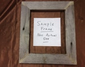 Flat  18x18 Barn Wood Picture Frame, Hand Crafted One at a Time.
